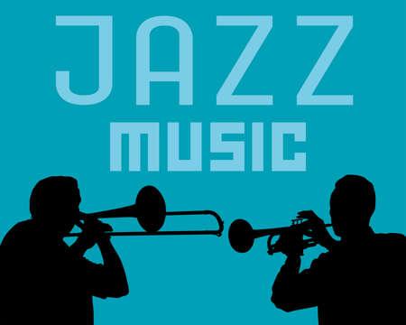Man plays wind instruments. Jazz retro style 写真素材 - 156276662