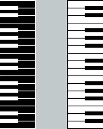 Poster design on the theme of a music festival. Black and white piano keys