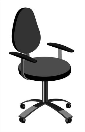 Working chair Stock Vector - 5957659