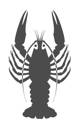 arthropod: Silhouette of river cancer