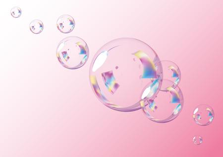 bulles: Fond rose de bulles.  Vecteur EPS10 Illustration.