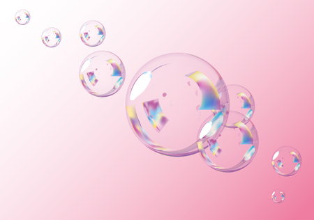 Pink Bubbles Background.  Vector EPS10 Illustration.