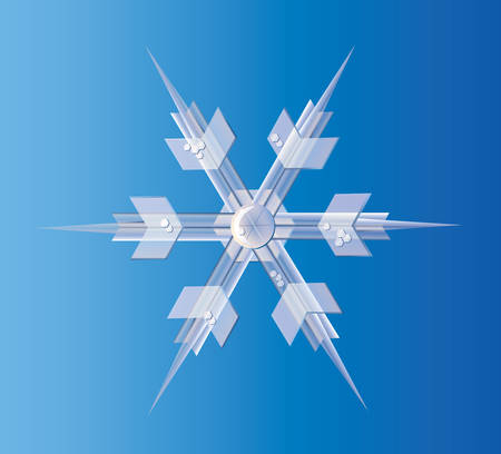 Icy Snowflake.  Vector EPS10 Illustration.