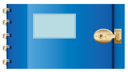 Locked Diary.  Vector EPS10 Illustration