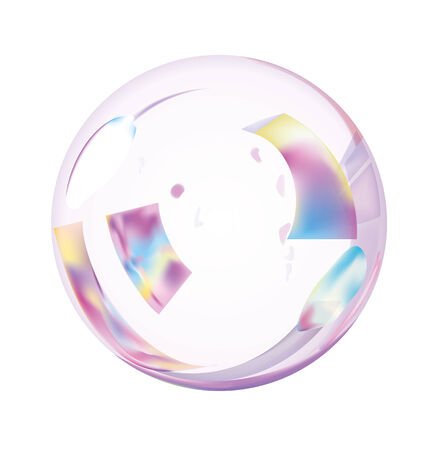 Isolated Soap Bubble.  Vector EPS10 Illustration.
