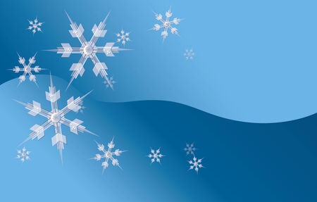 Icy Snowflake Background.  Vector EPS10 Illustration.