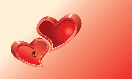 Hearts Background.  Vector EPS10 Illustration