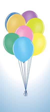 Balloon Cluster.  Illustration