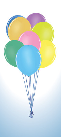 Balloon Cluster.  Illustration Stock Vector - 8596596