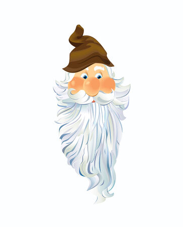 The Face of a Gnome.  Vector EPS10 Illustration.