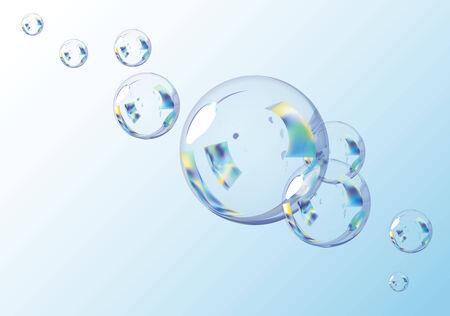 Blue Bubbles.  Vector EPS10 Illustration.