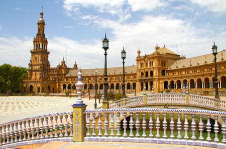espana: Plaza de Espana in Seville, Andalucia, Spain
