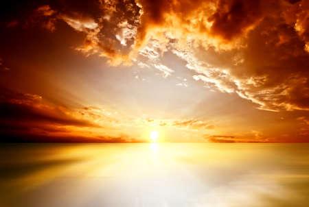 background image: red sunset