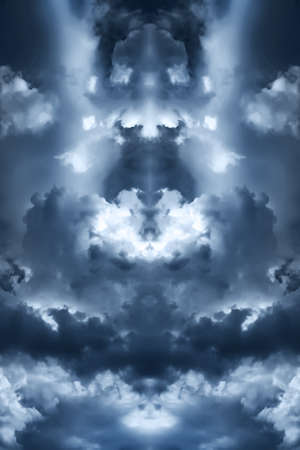 saturated storm clouds against the dark sky, dark blue tint Stock Photo - 17601892