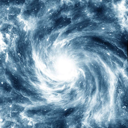 stellate: Blue spiral Galaxy in the background of black space  Azure colorise
