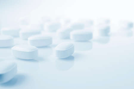 clinics: Pharmacy theme,  white  medicine tablets antibiotic pills.