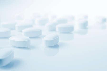 Pharmacy theme,  white  medicine tablets antibiotic pills.