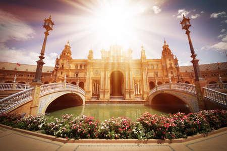 plaza: Plaza de Espana in Seville, Andalucia, Spain