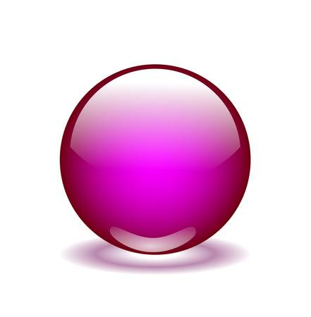 pink glossy  sphere Ilustrace