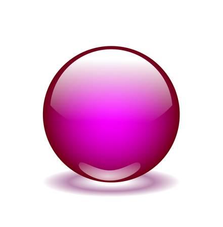 pink glossy  sphere Ilustração