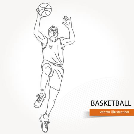 illustration de basket-ball silhouette. illustration vectorielle isolé