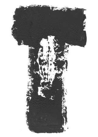 distort: Grunged T letter