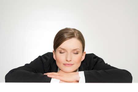 Closeup portrait of beautiful sleeping young woman