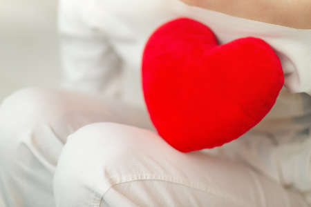 Red symbol of heart and love - Valentines Day Stock Photo