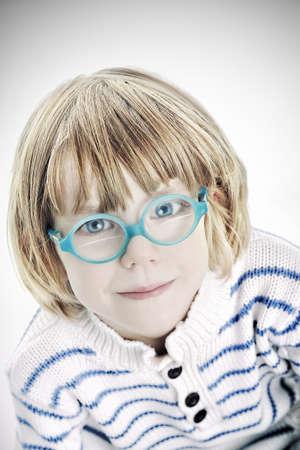 Cute boy model - a close up pretty child photo