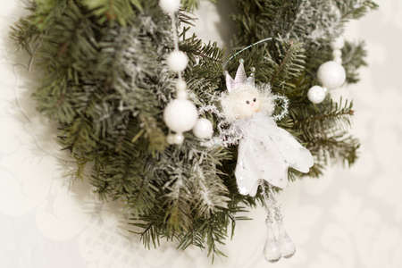 Christmas decorations with angel