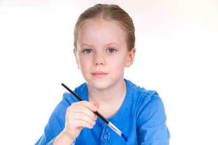 Little Girl Painting - portrait