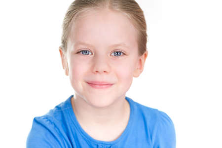 Adorable girl with smile Stock Photo