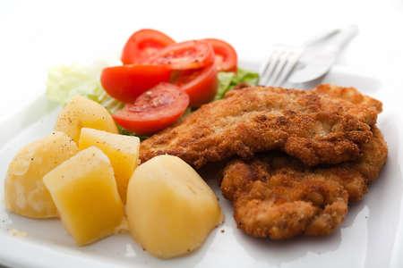 pork chop: Pork Chop - Dinner Stock Photo