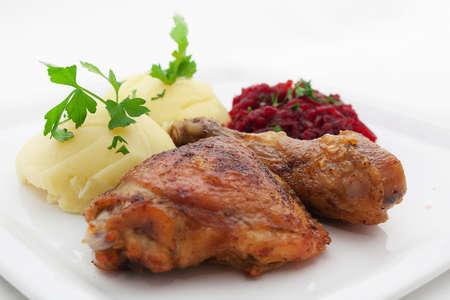 pollo arrosto: Pollo arrosto con patate