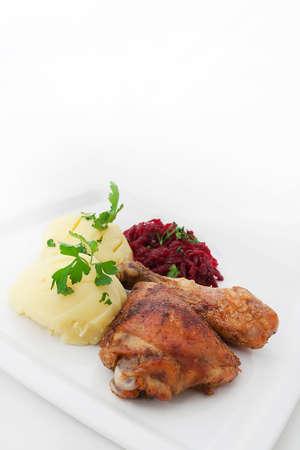 polish chicken: Roast Chicken with Potatoes