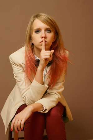 quietly: Silencing Stock Photo