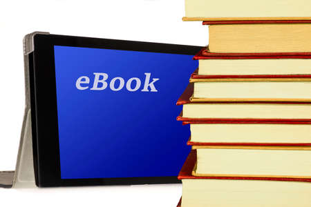 EBook - Tablet PC Computer and book