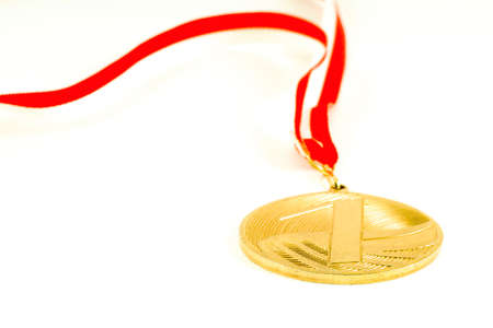 Medal on the white background Stock Photo