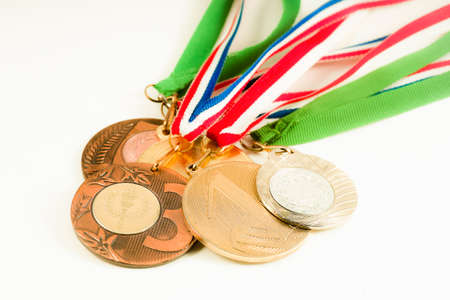 Medals on the white background