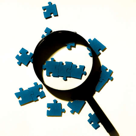 Puzzle solution concept Stock Photo