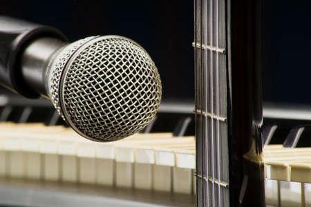 Concept of musical instruments Foto de archivo