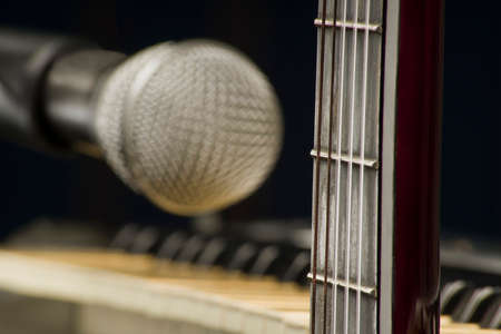 Concept of musical instruments Stock Photo