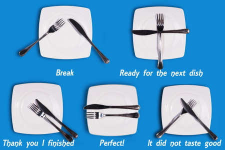 The importance of arranging cutlery on a plate - Savoir-vivre