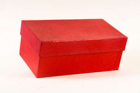 Red gift box isolated on white Stockfoto