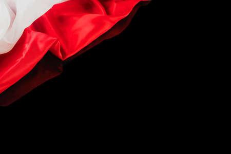 Polish flag on a black background