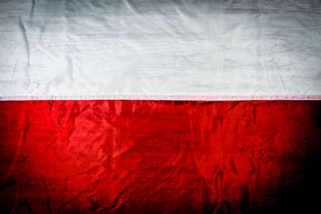 Polish flag on a background of boards of vintage style