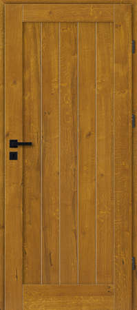Interior doors, wooden, full, oak with knots, painted - golden oak