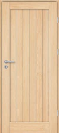 Interior doors, wooden, full, pine, unpainted