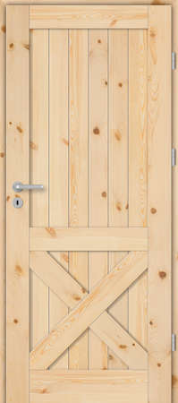Interior doors, wooden, full, pine with knots, unpainted Banco de Imagens
