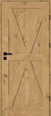 Interior doors, wooden, full, oak with knots